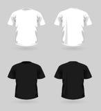 Vector reeks t-shirts Stock Afbeeldingen