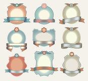 Vector reeks uitstekende etiketten royalty-vrije illustratie