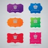 Vector reeks uitstekende etiketten Royalty-vrije Stock Afbeelding