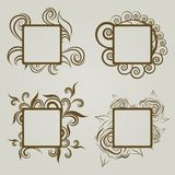 Vector reeks uitstekende frames Royalty-vrije Stock Fotografie