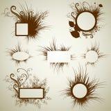 Vector reeks uitstekende grungeframes Royalty-vrije Stock Afbeelding