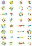 Vector Reeks van 32 Collectieve Elementen van het Ontwerp Stock Foto