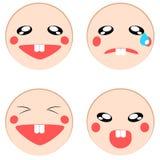 Vector reeks van emotiepictogram Stock Afbeelding