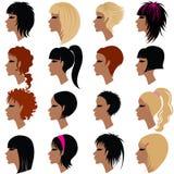 Vector reeks van het trendy haar stileren voor vrouw vector illustratie