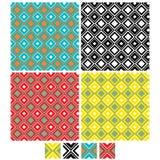 Vector reeks van Naadloos Patroon Royalty-vrije Stock Afbeeldingen