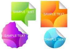 Vector-reeks-van-verschillend-kleurrijk-stickers Stock Afbeelding