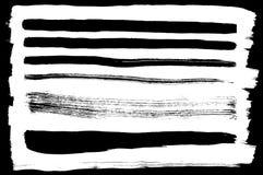 Vector reeks verschillende inktslagen Stock Afbeelding
