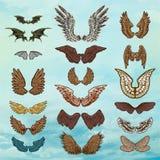 Vector reeks Vleugels Stock Foto's