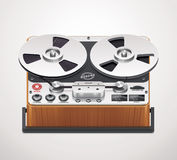 Vector reel-to-reel registreertoestelpictogram Stock Foto