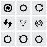 Vector refresh icons set Royalty Free Stock Images