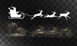 Vector reindeer and Santa Claus. Reindeer and Santa Claus. Vector silhouettes for cards, advertising banners, illustrations. The image of the new year holiday Royalty Free Stock Image