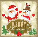 Vector reindeer and santa claus Stock Photo