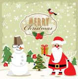 Vector reindeer and santa claus Stock Image