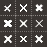 Vector rejected icon set Royalty Free Stock Images