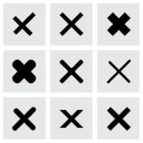 Vector rejected icon set Stock Photos