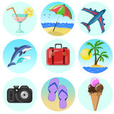 Vector relax icon set Stock Images