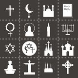 Vector Religion icon set Stock Image