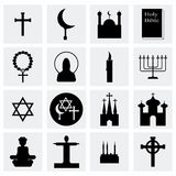 Vector Religion icon set Royalty Free Stock Image