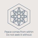 Vector religious circular ornament Stock Image
