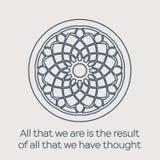Vector religious circular ornament Stock Photography
