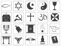 Vector Religious Icons Collection Stock Images