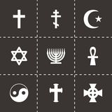Vector religious symbols icon set Royalty Free Stock Images