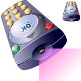 Vector remote control. Royalty Free Stock Photo