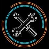 Vector repair tools illustration - maintenance stock illustration