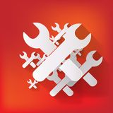 Vector repair web icon Royalty Free Stock Images
