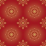Vector repeatable snowflake background Stock Images