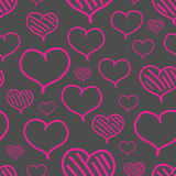 Vector repeated valentine pattern Stock Images