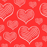 Vector repeated valentine pattern Royalty Free Stock Photos
