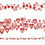 Vector repeating. Border to Valentine's Day Royalty Free Stock Images