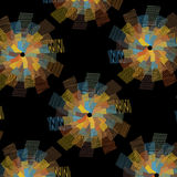 Vector repeating optical pattern with multiply wavy line colorful shapes Royalty Free Stock Photo