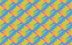 Colorful 3D boxes, squares and rhombuses in a pattern Stock Photos