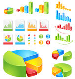 Vector reports set. Make your reports or presentations more illustrative Royalty Free Stock Photography