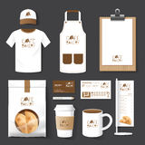 Vector restaurant cafe set flyer, menu, package, t-shirt, cap, u Royalty Free Stock Image