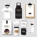Vector restaurant cafe set flyer, menu, package, t-shirt, cap, u Stock Images