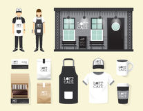 Vector restaurant cafe set shop front design, flyer, menu. Stock Photos