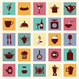 Vector restaurant , food and beverage icons-set - Illustration Royalty Free Stock Image