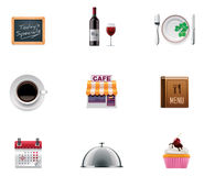 Vector restaurant icon set Stock Photos