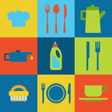 Vector restaurant icons Royalty Free Stock Photo