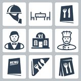 Vector restaurant icons set Royalty Free Stock Photo