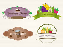 Vector Restaurant Labels Set Royalty Free Stock Photos
