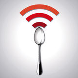 Vector of Restaurant location Free WiFi Stock Image