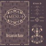 Vector Restaurant menu design template Royalty Free Stock Photography