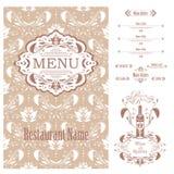 Vector Restaurant menu design template Royalty Free Stock Photo