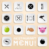 Vector Restaurant Menu Icons Stock Images