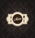 Vector Restaurant Menu Label with Background Stock Photo