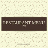 Vector Restaurant Vintage Menu Card Design Template Stock Photography